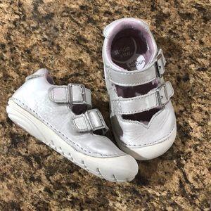 Stride Rite Silver Velcro Mary Jane Sneaker